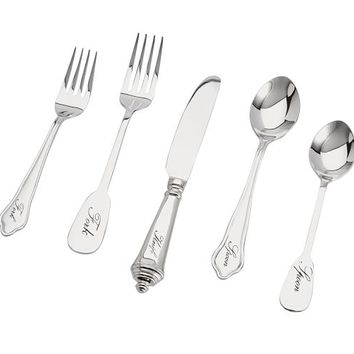 Antique Silver 20-Piece Flatware Set