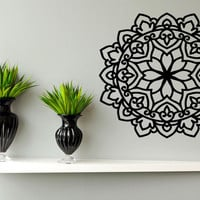 Wall Sticker Decal Room Decor Art Mandala Ornamental Floral Symbol Flower 1386