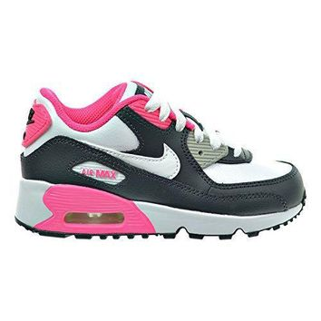 Nike Air Max 90 LTR (PS) Little Kid's Shoes Anthracite/White/Hyper Pink/Metallic Silve