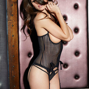 NEW Shadow Stripe Open-Cup Bustier