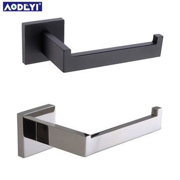 Matte Black Toilet Paper Holder Wall Mount Tissue Roll Hanger 304 Stainless Steel Bathroom Accessories