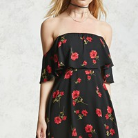 Off-the-Shoulder Poppy Dress - Women - New Arrivals - 2000081223 - Forever 21 Canada English