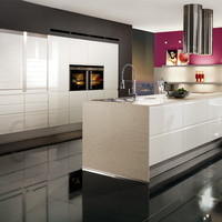 Lacquered kitchen with island PURA 834 by Nobilia-Werke