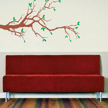 Beautiful Branch with Leafs Design Decor Nature Decal Sticker Wall Vinyl Art