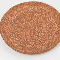 Beautiful handcrafted clay plate designer ceramic dinner plate kitchen decor