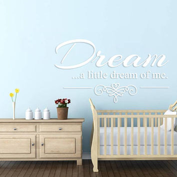 Sweet Dreams Nursery Wall Decal, Sweet Dreams Stars Bedroom Sticker, Sweet Dream Nursery Room Wall Decor Art, Baby Shower Decor Mural se149