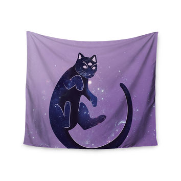 "KESS Original ""Cosmic Kitten"" Celestial Animal Wall Tapestry"