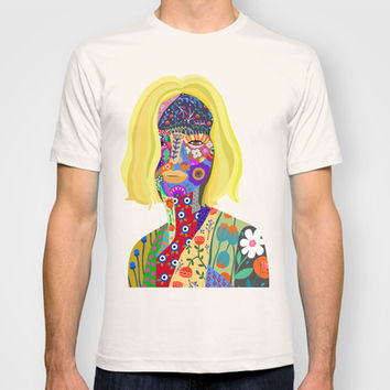 She lives in Flower fantasy world T-shirt by Uzualsunday