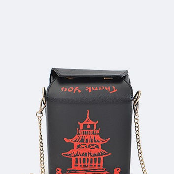 Chinese Takeout Box Clutch Handbag