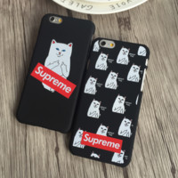 Supreme Pocket Cat  Iphone 5 5s SE 6 6s 6plus 6splus 7 7plus Cover Case