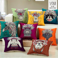 Modern Creative Personality animal printing 45x45cm Home/Office/Sofa/Bed Decorative Cushion/Throw Pillow(Not Contain Filling)