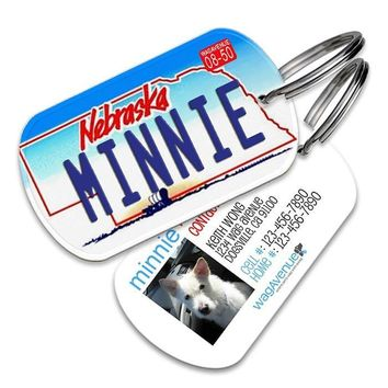 Nebraska License Plate Pet Tag