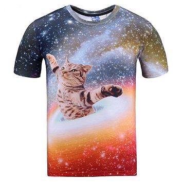 Cat - Galaxy/Space - Unisex T-shirt - All Over Print
