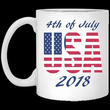 USA Coffee Mug, 4th Of July Mug 2018, Custom USA Mug, Patriotic Mug, Fourth Of July Mug