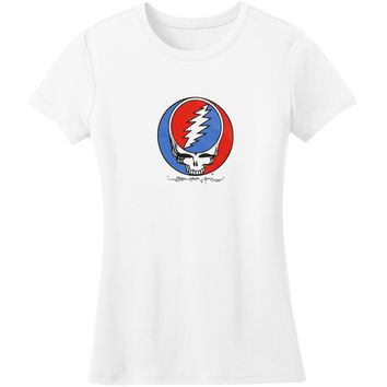 Grateful Dead  Steal Your Face Junior Top White