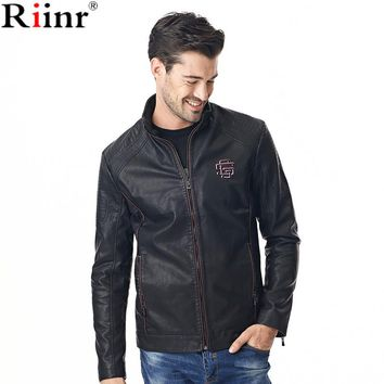Fashion New Arrival Leather Jacket High Quality Autumn And Winter Warm Casual Motorcycle Solid Color