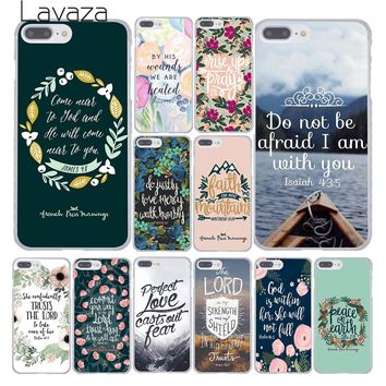 Lavaza Bible verse Philippians Jesus Christ Christian Phone Case for Apple iPhone 10 X 8 7 6 6s Plus 5 5S SE 5C 4 4S Coque Shell