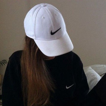 Nike Tech Swoosh Cap, Black/White, Size can be adjusted White