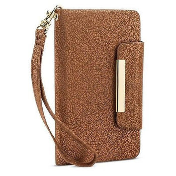 Crazy4tank Cell Phone Case With Removable Wristlet Strap - Brown