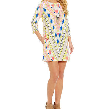 GB Printed Shift Dress | Dillards