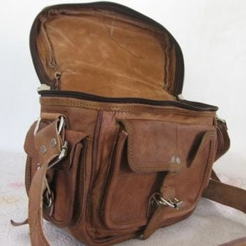 Leather Camera Bag - Vintage Retro Look - DSLR