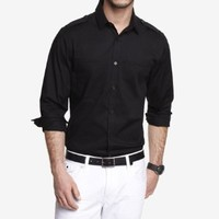 FITTED WELT POCKET SHIRT