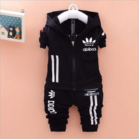 2016 Brand New Baby Boys Clothing Set Kids Sports Suit Children Tracksuit Girls T Shirt Pants Sweatshirt Casual Clothes Sets