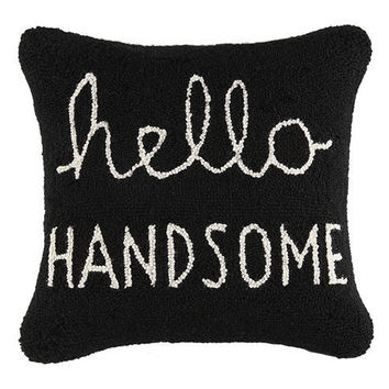 Hello Handsome Hook Pillow
