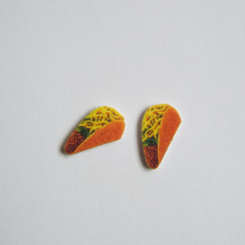 Taco Stud Earrings Fun Novelty Gift