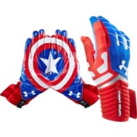 Under Armour Adult Alter Ego Captain America Receiver Gloves