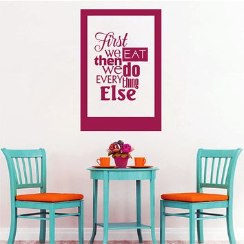 ik2839 Wall Decal Sticker funny inscription kitchen restaurant cafe