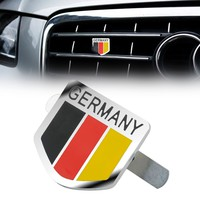 MAYITR Car styling Metal Germany German Flag Logo Emblem Sticker Car Front Grill Grille Badge Decal Stickers with Accessories