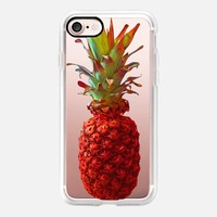 Atomic Orange Pineapple iPhone 7 Case by Lisa Argyropoulos | Casetify