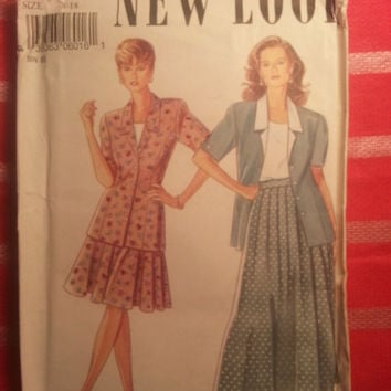 Uncut Simplicity New Look Sewing Pattern, 6016! 8-10-12-14-16-18 Small/Medium/Large