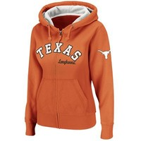 Texas Longhorns Ladies Express Full Zip Hoodie - Burnt Orange