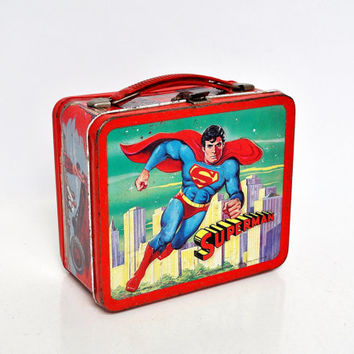 Vintage 1970s Superman Lunchbox