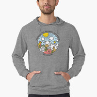 'Animals are friends, not food. Go vegan! ' Lightweight Hoodie by dmitriylo