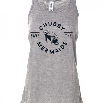 Save The Chubby Mermaids Manatee Tank Top