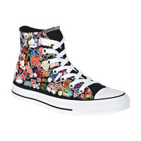Converse® Hi-Top Sticker Print - Black Multi