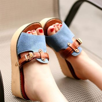 2017 New Styles Women Sandals And Slippers Flip Flop Fashion Platform Beach Slippers W