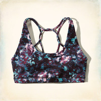Hollister Cali Sport Strappy Sports Bra