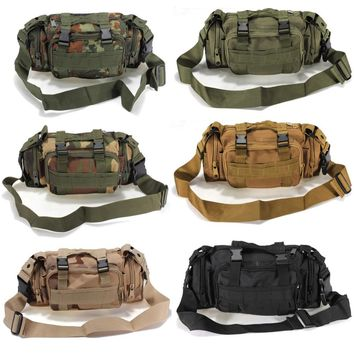 Outdoor Canvas Utility Camouflage Military Tactical Waist Bags Assault Backpack Mountain Bicycle Bike Outdoor Messager bag