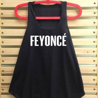 Feyonce shirt tank top women clothing music vest tee tunic - size S M