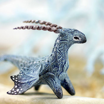 MADE TO ORDER Little Dragon figurine fantasy animal creature art sculpture magic gif