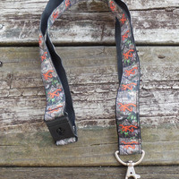 Camouflage Orange Browning Ribbon Safety Breakaway Lanyard, ID Badge,Cell Phone, Key Holder
