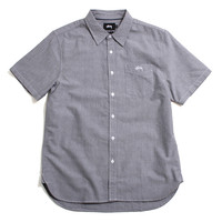 Classic Oxford Short Sleeve Button-Up Shirt Black
