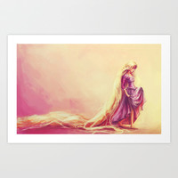 Gilded Art Print by Alice X. Zhang