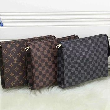 Louis Vuitton Women Fashion Leather Print Wallet Purse