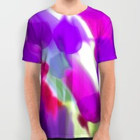 Meadow Flowers Abstract 2 All Over Print Shirt by Jen Warmuth Art And Design