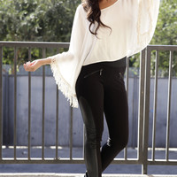 Lovely Tassel Top - White